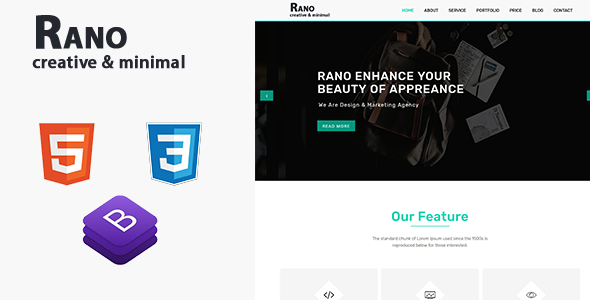 Rano | One Page Parallax HTML Template