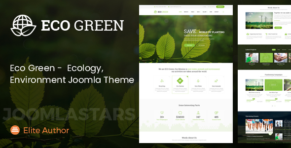 Eco Green - Joomla Theme for Environment, Ecology and Renewable Energy Company Free Download | Nulled