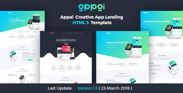 APPAI App Landing Page - Technology Site Templates
