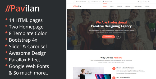 Image of Pavilan - Business & Consulting HTML5 Template