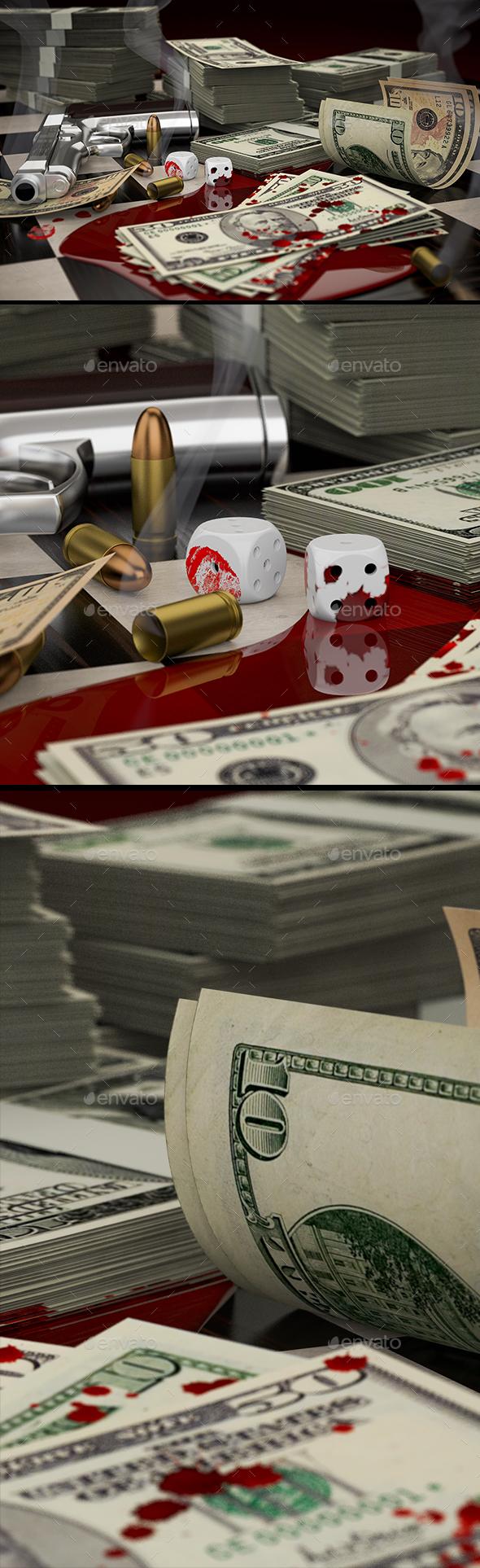 Blood Money and Smoking Gun - 3D Backgrounds