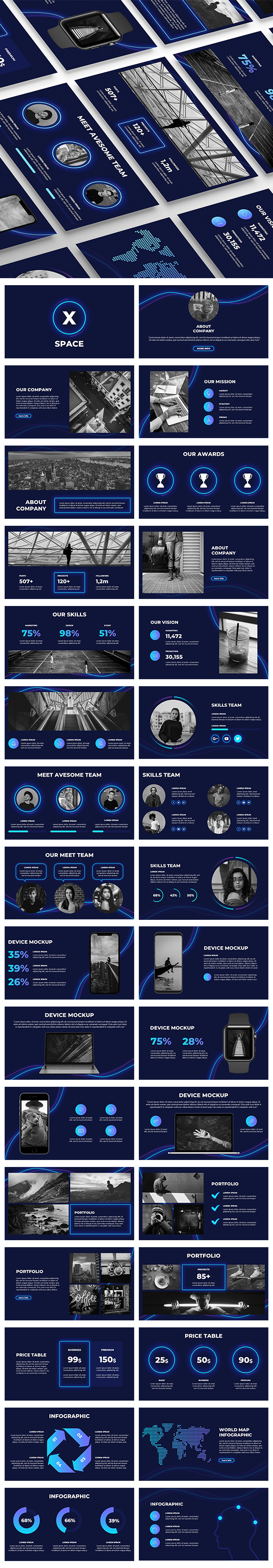 SpaceX PowerPoint Presentation - Business PowerPoint Templates