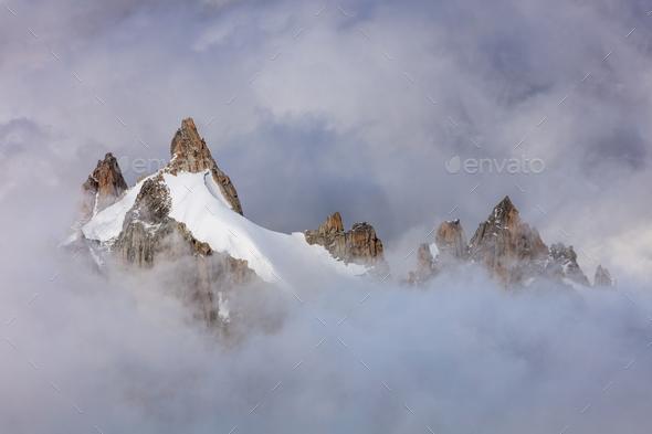 Mont Blanc massif, France - Stock Photo - Images