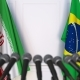 Flags of Iran and Brazil at International Press Conference - VideoHive Item for Sale