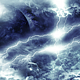 Travel Through Abstract Dark Thunder Clouds to Mysterious Planet and Big Star - VideoHive Item for Sale