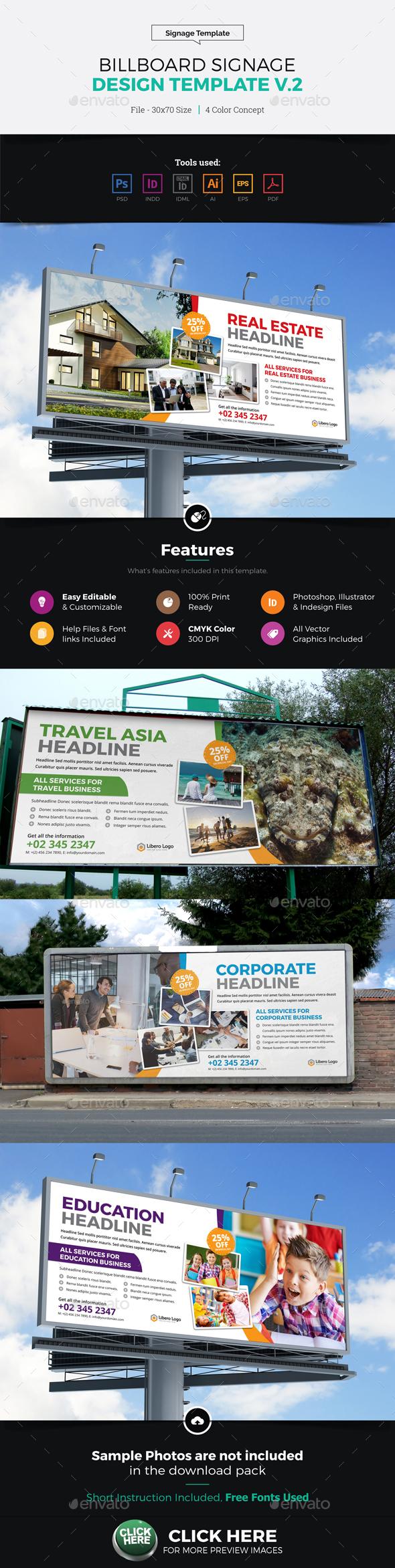 Billboard Signage Design v2 - Signage Print Templates