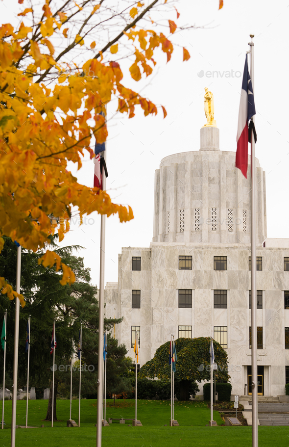 State Captial Salem Oregon Government Capital Building Downtown - Stock Photo - Images