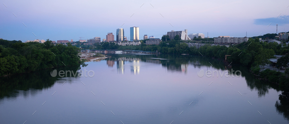 Knoxville Downtown City Skyline Tennessee River Eastern Tennesse - Stock Photo - Images