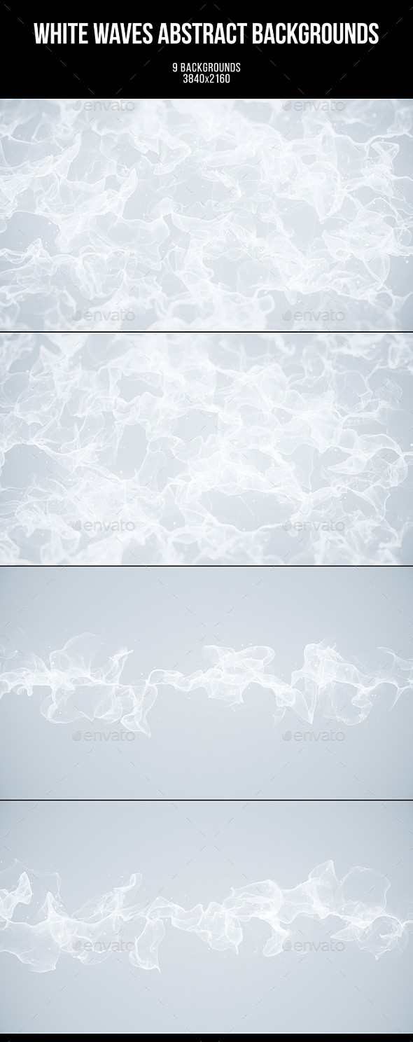 White Waves Abstract Backgrounds - Abstract Backgrounds
