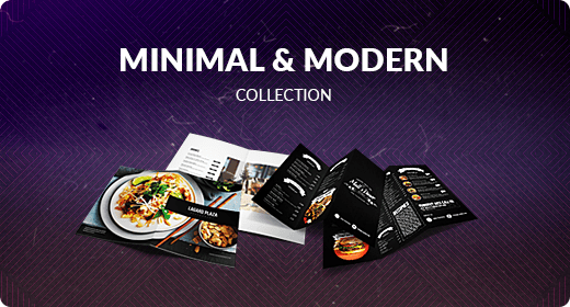 Minimal and Modern Menu Collection