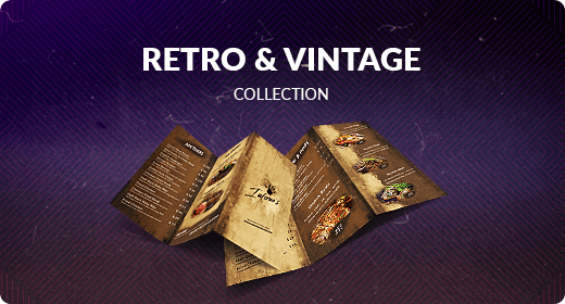 Retro and Vintage Food Menu Collection