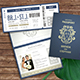 Passport Wedding Invitation - GraphicRiver Item for Sale