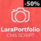 LaraPortfolio CMS Script