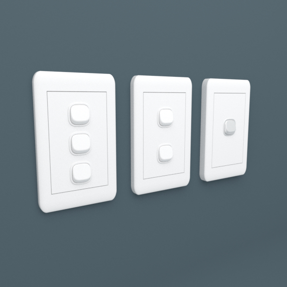 Light Switches - 3DOcean Item for Sale