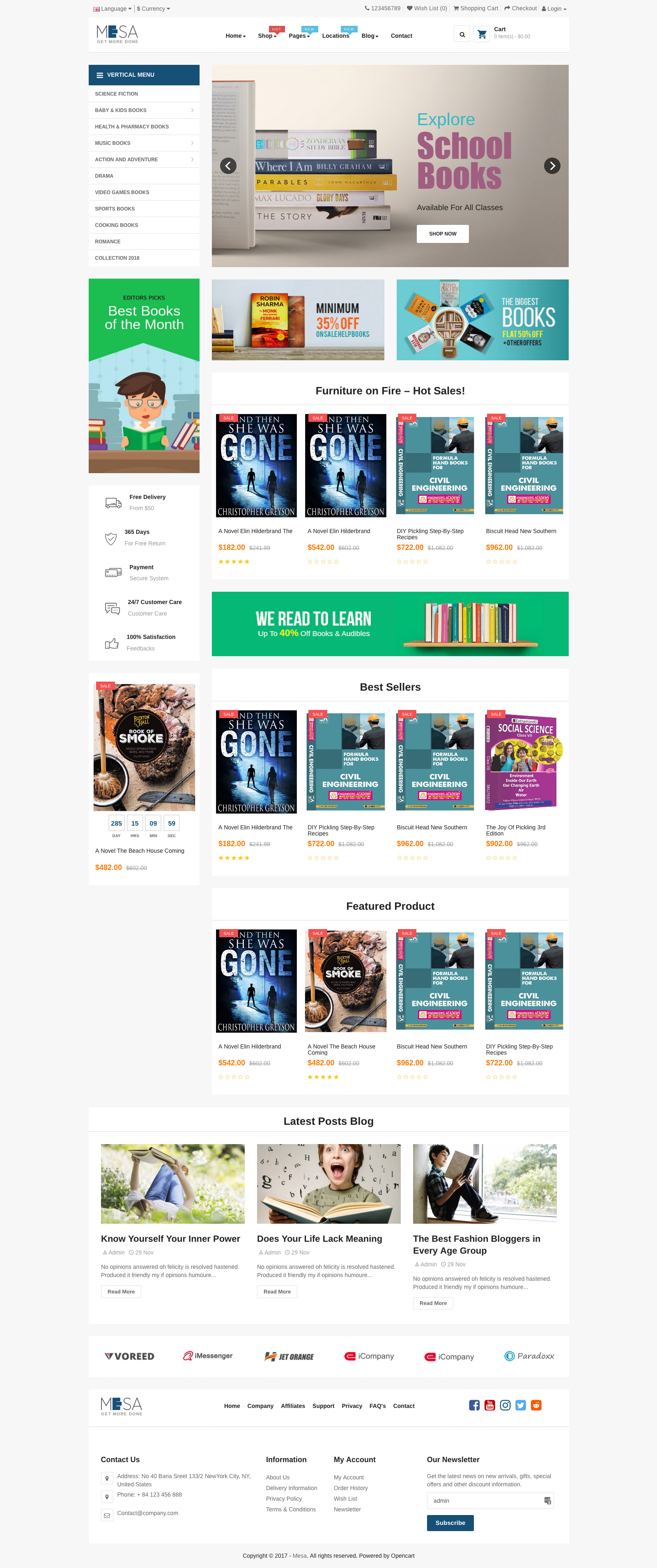 Pav Mesa Book Store Opencart 3 Theme By Pavothemes Themeforest