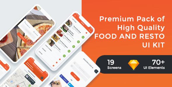 FoodRest - Food & Resto UI KIT for Sketch - Sketch Templates
