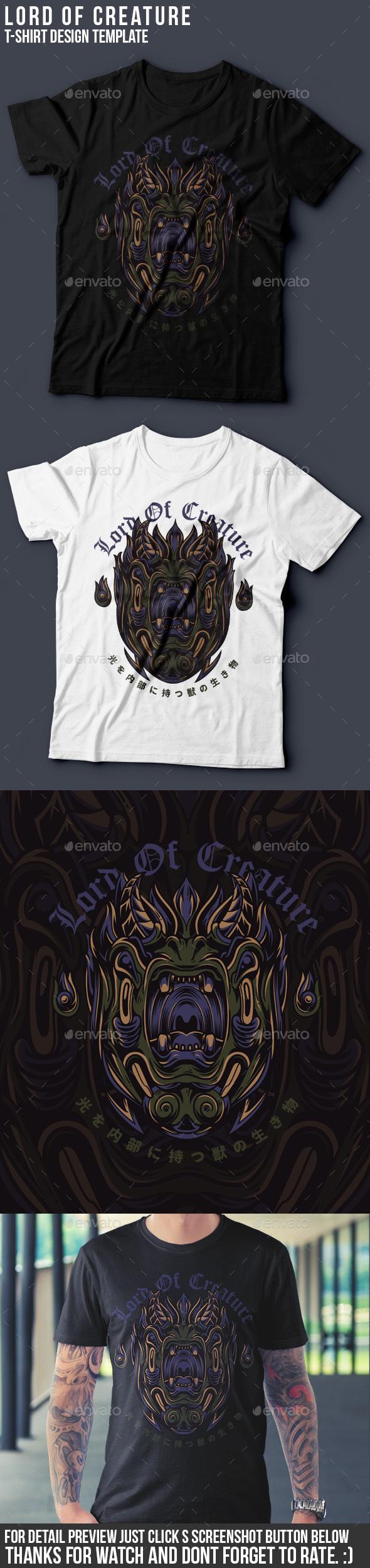 Lord of Creature T-Shirt Design - Grunge Designs