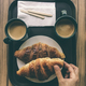 Croissant and  coffee breakfast. - PhotoDune Item for Sale