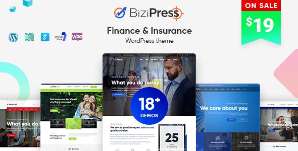 Image of BiziPress - Finance & Insurance WordPress Theme