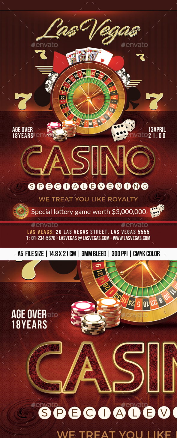 Casino Flyer - Flyers Print Templates