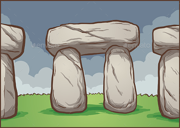 Stonehenge Background - Buildings Objects