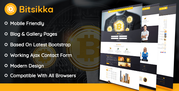 BitSikka - Cryptocurrency HTML Template - Corporate Site Templates