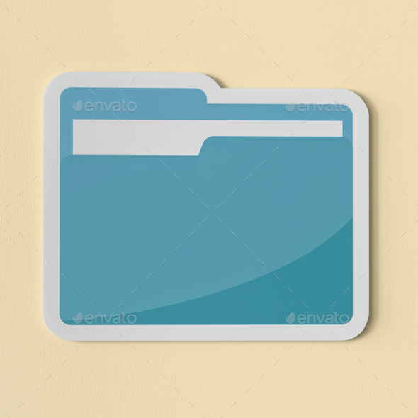Icon of a blue folder - Stock Photo - Images