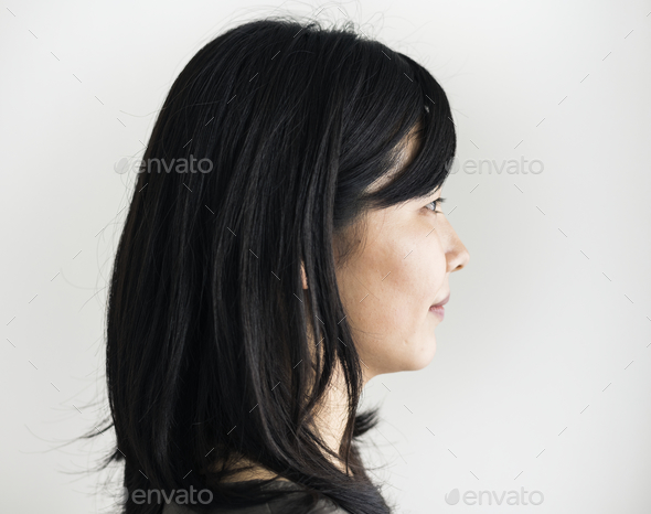 Asian ethnicity woman portrait shoot in a studio - Stock Photo - Images