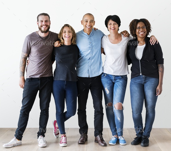 Group of diverse people - Stock Photo - Images