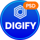 Digify - Digital and Marketing Agency PSD Template - ThemeForest Item for Sale