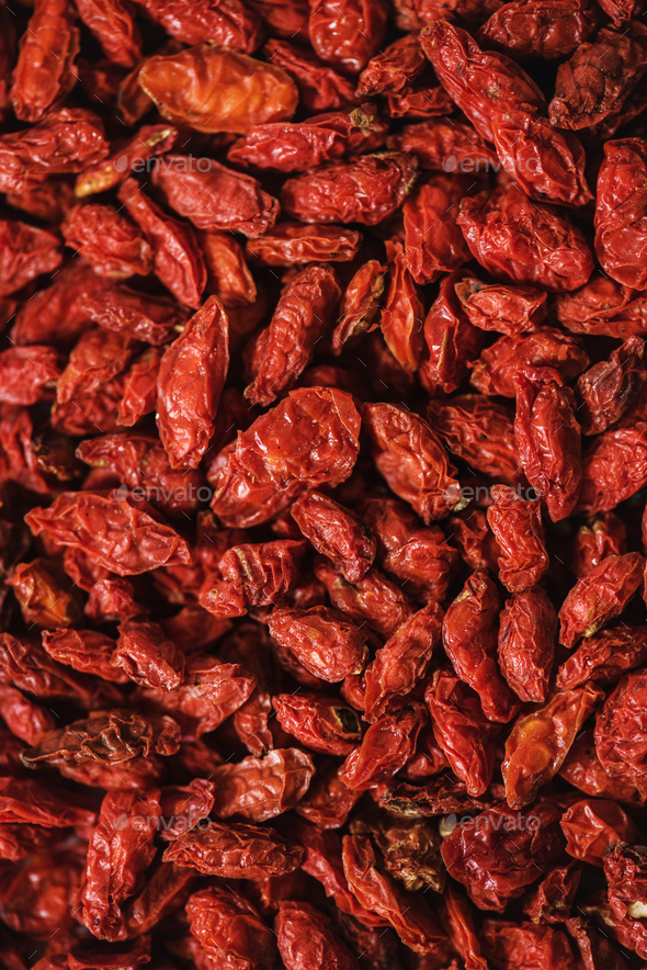 Closeup of goji berries - Stock Photo - Images