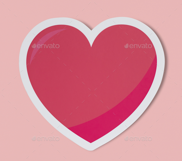 Heart like love romance icon - Stock Photo - Images
