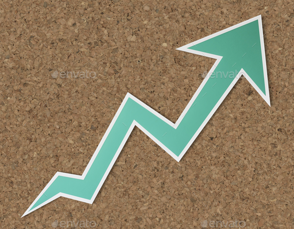 Growth up arrow icon isolated - Stock Photo - Images
