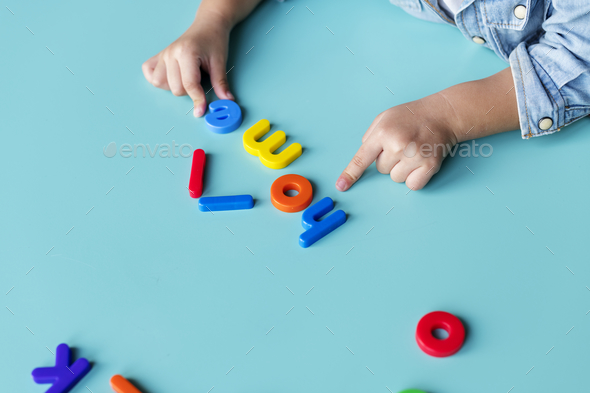 Kid with toy - Stock Photo - Images