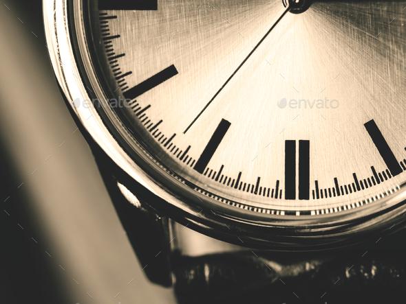 Closeup macro shot of a watch - Stock Photo - Images