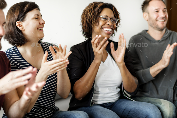 People clapping together - Stock Photo - Images
