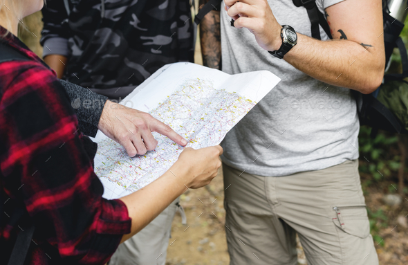 Map chaecking for the direction - Stock Photo - Images