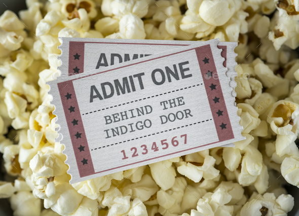 Closeup of cinema and movie entertainment concept - Stock Photo - Images