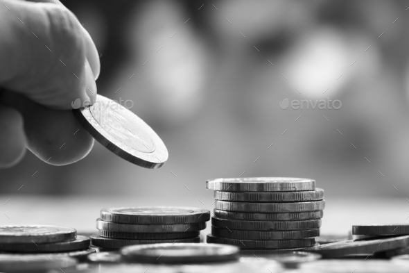 Macro shot of financial concept - Stock Photo - Images