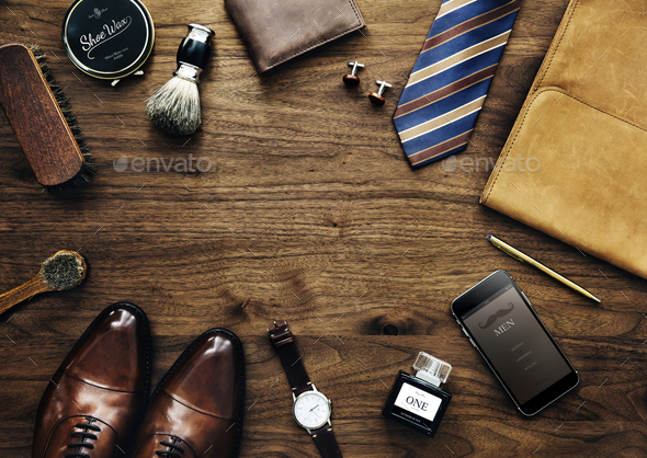 Men collection of daily use - Stock Photo - Images