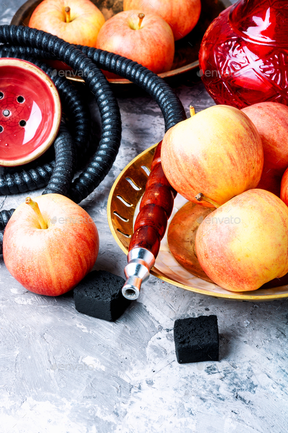 Shisha hookah with apple - Stock Photo - Images