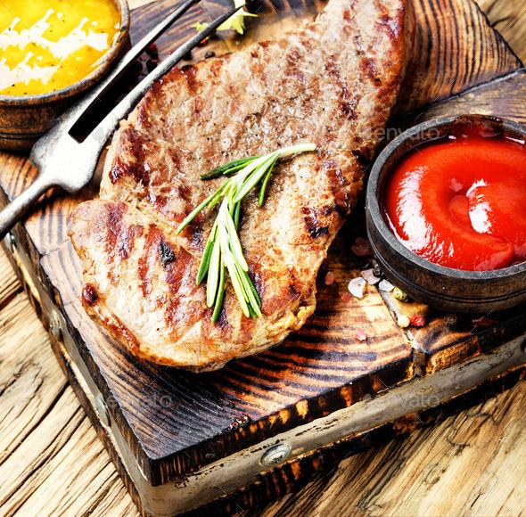 Sirloin beef steak - Stock Photo - Images