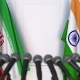 Flags of Iran and India at International Press Conference - VideoHive Item for Sale
