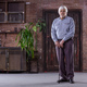 Portrait of senior man with walking stick - PhotoDune Item for Sale