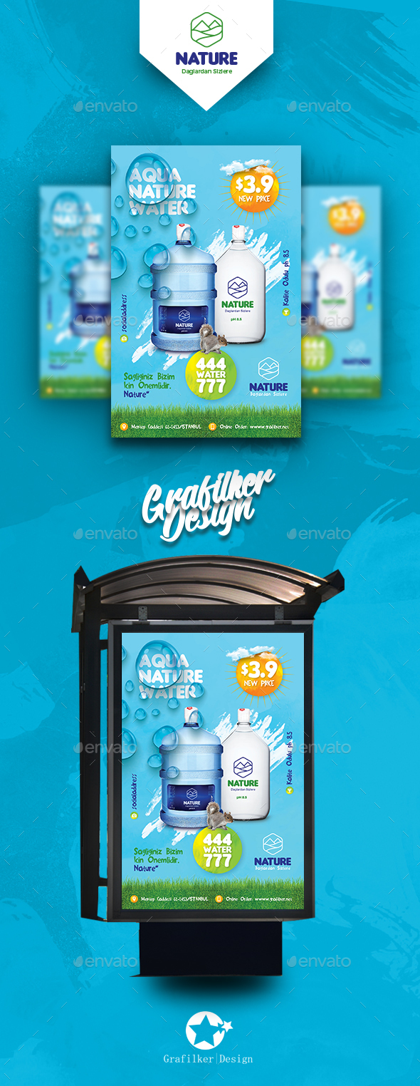 Water Service Poster Templates - Signage Print Templates