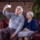 Senior couple taking selfie with smart phone  - PhotoDune Item for Sale