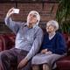 Senior couple taking selfie with smart phone  - PhotoDune Item for Sale