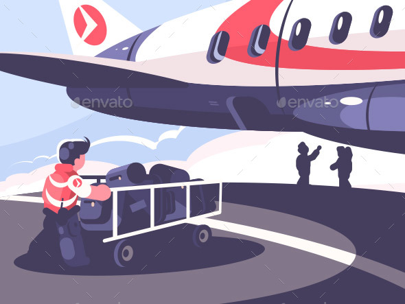 Loading of Luggage in Plane - Miscellaneous Vectors