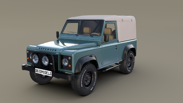 1985 Land Rover Defender 90 with interior ver 2 - 3DOcean Item for Sale
