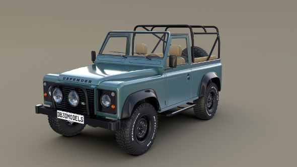 1985 Land Rover Defender 90 with interior ver 3 - 3DOcean Item for Sale